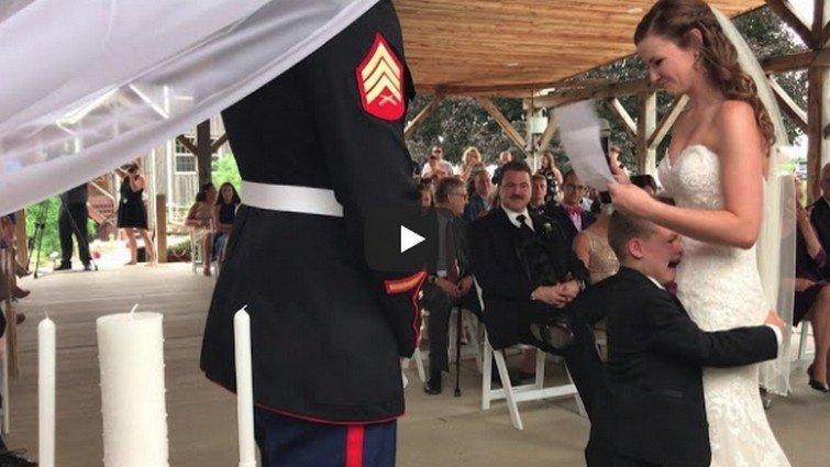 【看影片學英文】超感人!繼母唸完婚禮誓詞,四歲男孩感動大哭