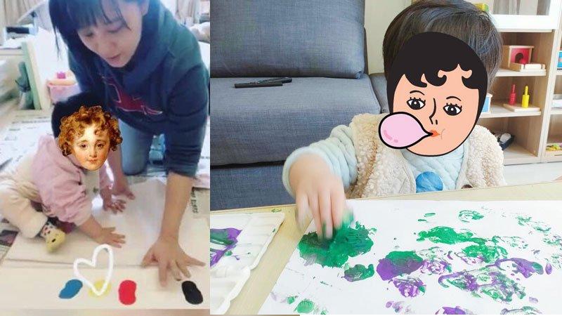 【防疫在家玩】和一歲娃恣意創作的親子時光