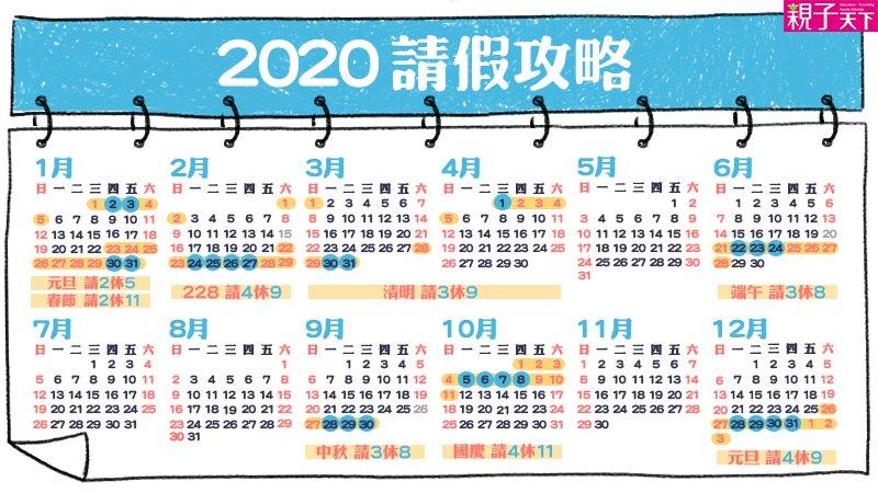 【2020請假攻略】孩子免請假!爸媽請2天,全家去玩11天