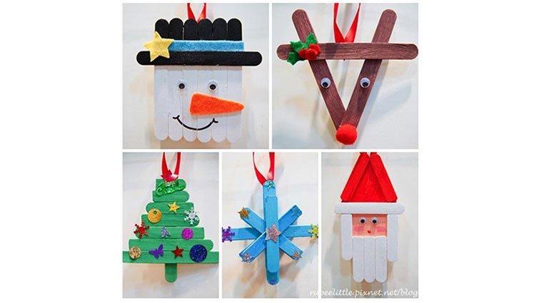 【手作 DIY】 動手做聖誕裝飾 - 聖誕老公公 & 聖誕冰棒棍吊飾