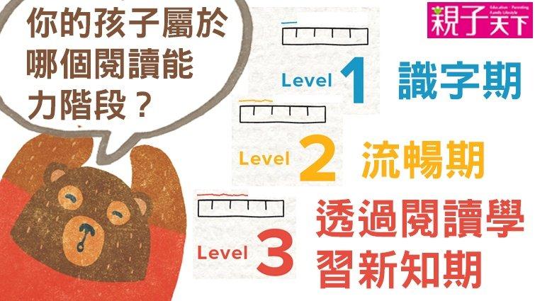 小熊媽:如何確認孩子的閱讀能力階段?透過簡單指標就可判斷!