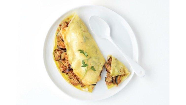 《每3天瘦2.5kg》:茄子蛋包飯
