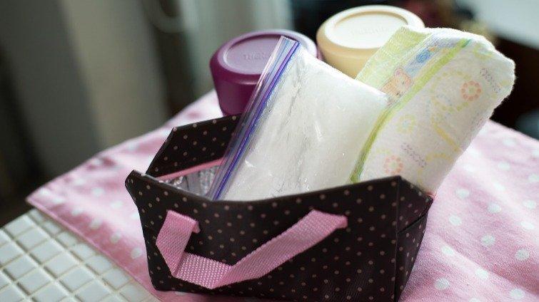 帶副食品出門必備好物【用尿布自製保冷劑(冰寶)】