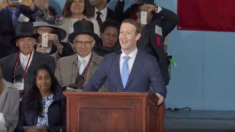 臉書創辦人祖克柏給哈佛畢業生:要做大而有意義的事