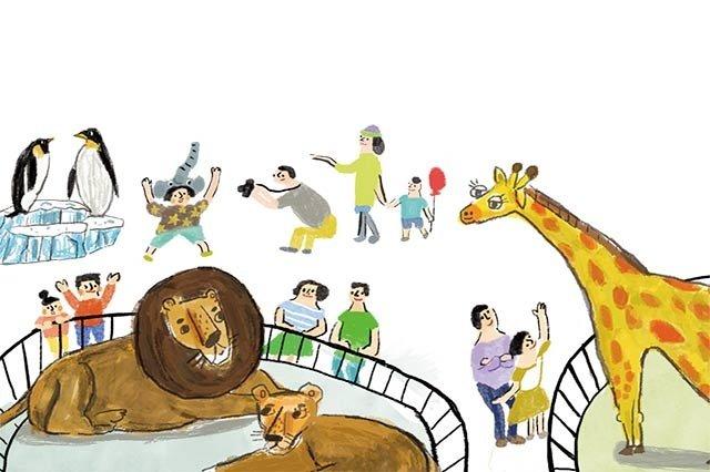 逛動物園,看動物書暖身