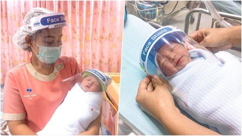 泰國嬰兒室超前部署!專屬新生兒寶寶的迷你防疫面罩