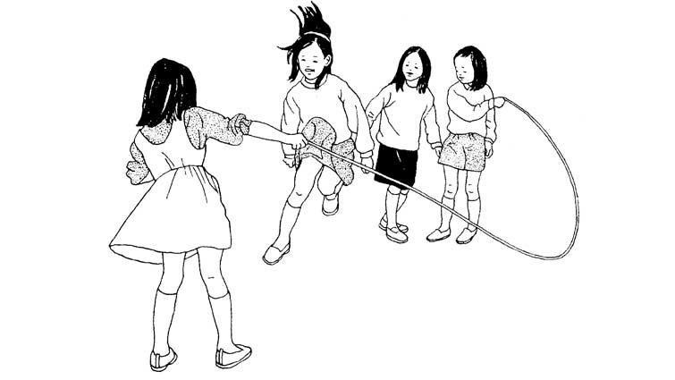 令人懷念的小學遊戲:玩跳繩