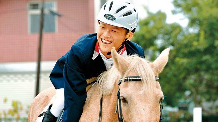 騎馬讓腦麻兒建立信心