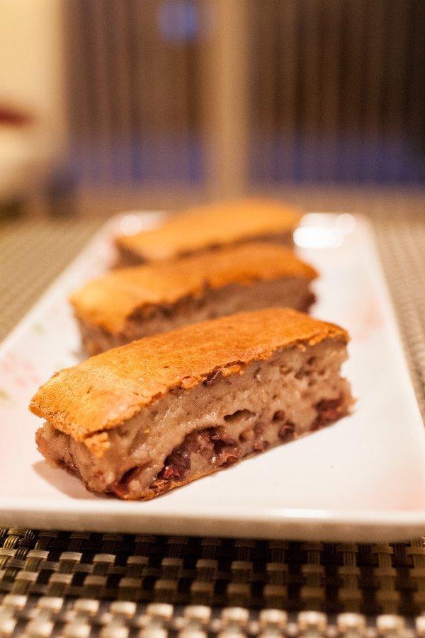 酥烤紅豆牛奶年糕