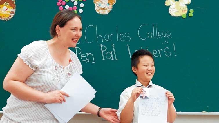 桃園市有得中小學國中部:英語日,打造全英語環境