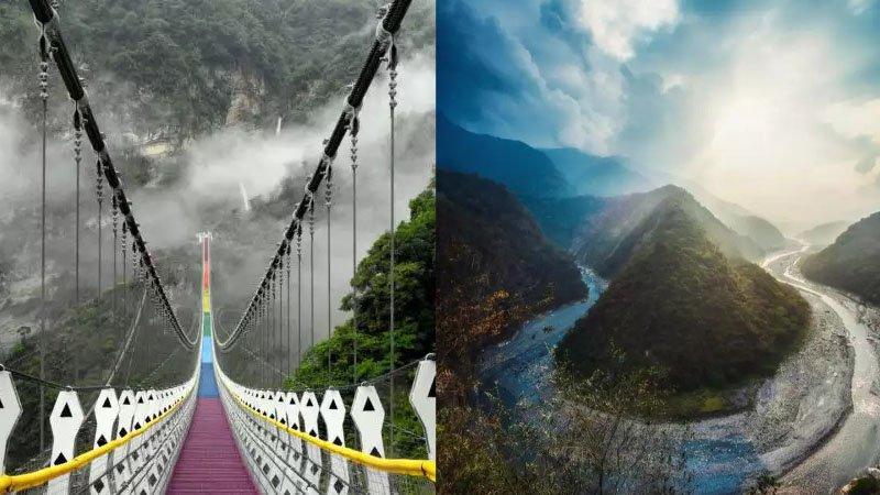 帶孩子來趟山裡之旅:秘境景觀「南投雙龍七彩吊橋」
