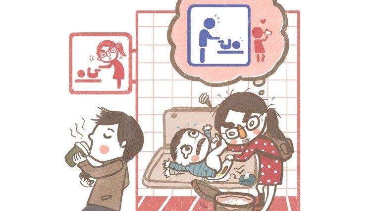 【小紅請問】抗議,尿布檯只在女廁!帶孩子,老公也有份