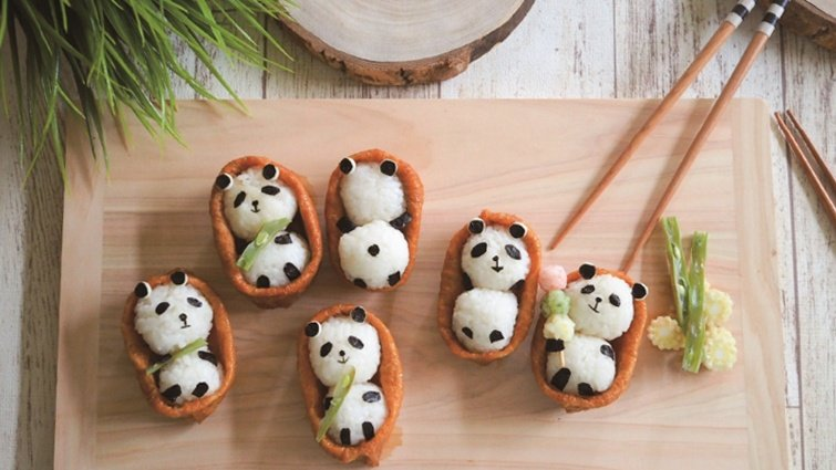 超療癒「豆腐皮熊貓壽司」早餐、點心都適合