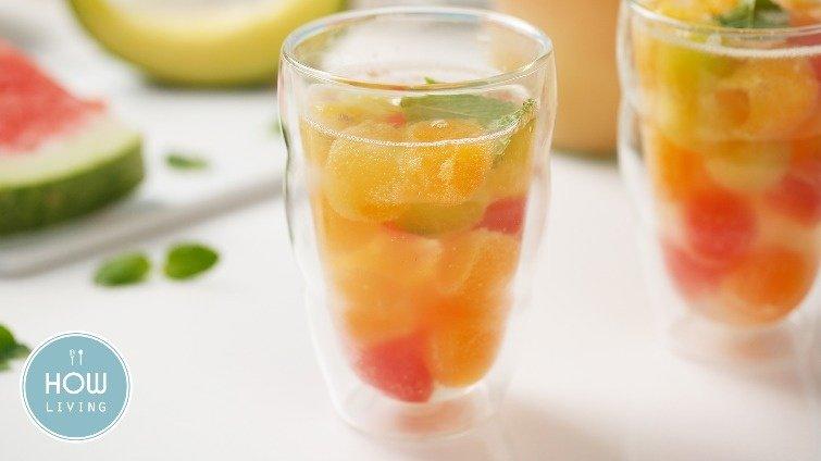 夏日透明系消暑飲品~【水果冰球氣泡飲】