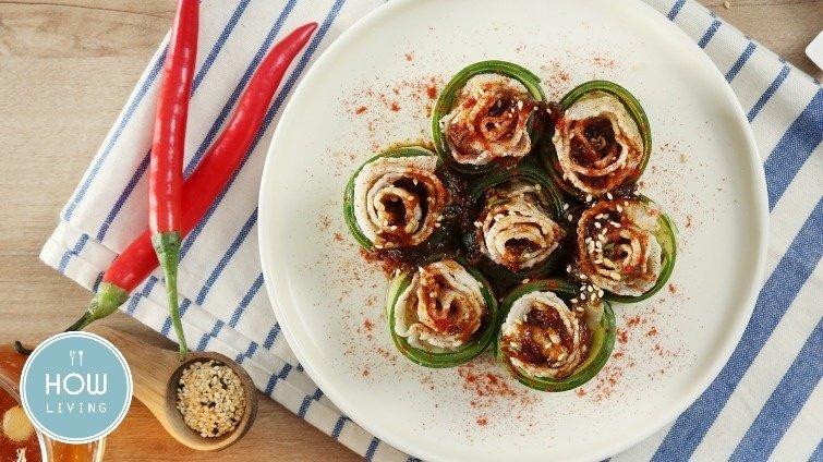 開胃菜界的小清新~【小黃瓜蒜泥白肉】