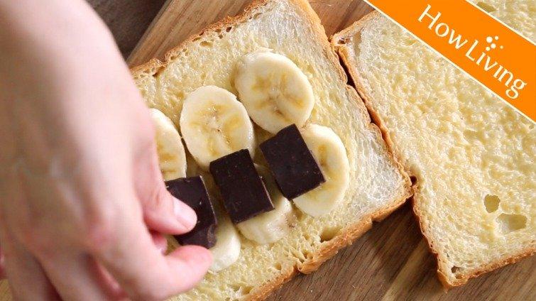 春日出遊輕食便當~【巧克力香蕉法國吐司】