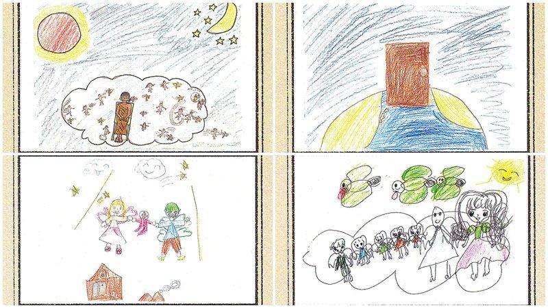 「打開門,就住進媽媽的肚子裡」,7幅孩子們描繪「出生前記憶」的暖心圖畫