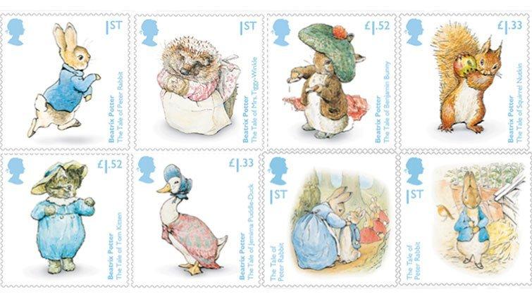 慶祝波特小姐誕辰 150 週年,彼得兔紀念郵票來了!