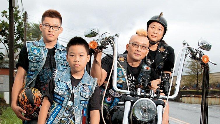 騎重機是我們最親密的家庭活動