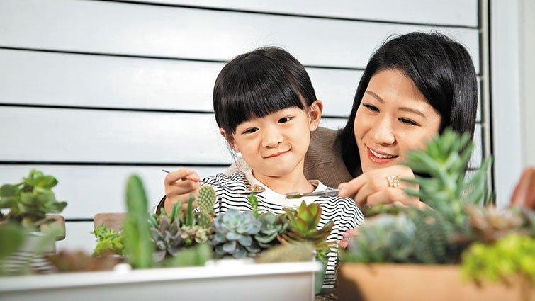 春天裡的花草Maker ,多肉植物親子DIY