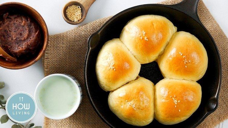 熱騰騰出爐超幸福~【紅豆麻糬麵包】