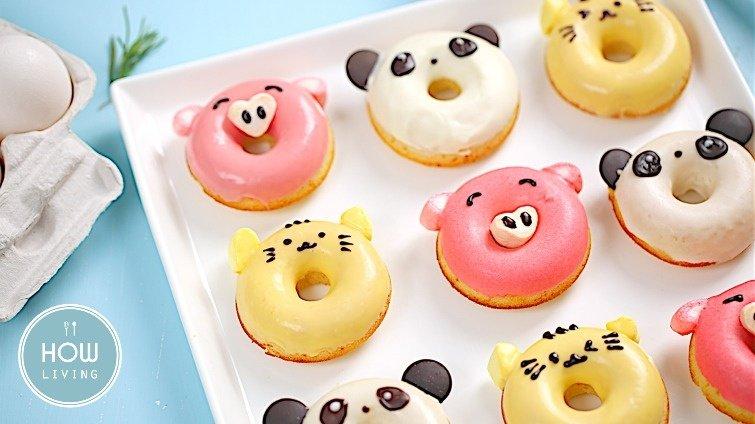 森林系萌甜點~【小豬、貓咪、熊貓甜甜圈】