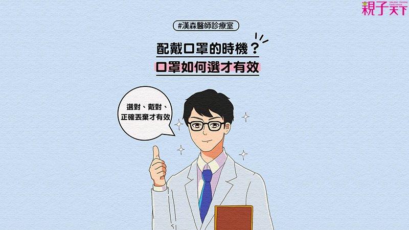 漢森醫師:武漢肺炎防疫必知!口罩正確配戴法