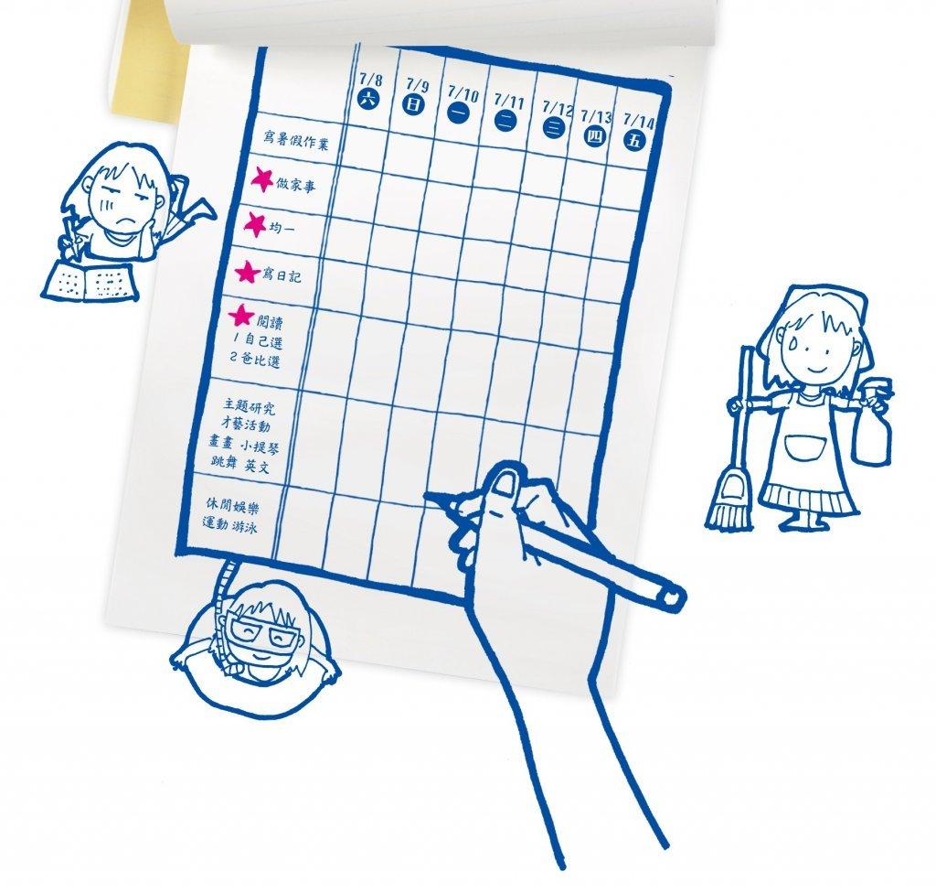 老ㄙㄨ老師:神奇暑假計劃表,擋住「我好無聊」的哀號