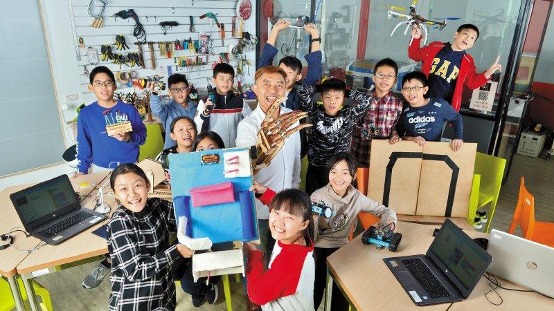 新北積穗國小 創客小學堂: 一群小學生把自己想像成新創公司