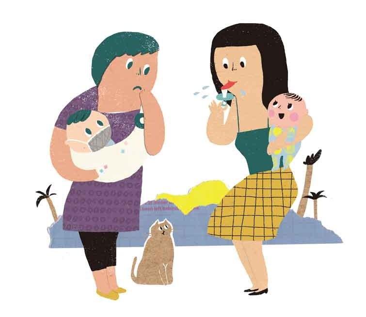 吃媽媽的口水可預防過敏?