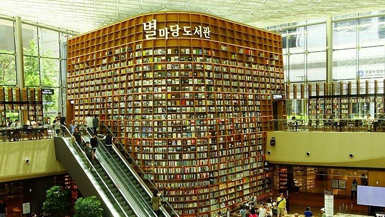 韓國免費「星空圖書館」   巨型書架氣勢超驚人!