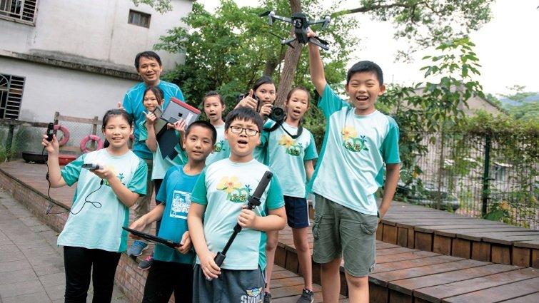 新北市成福國小教導主任  謝基煌 攝影生態課,拍出知識與孩子的心