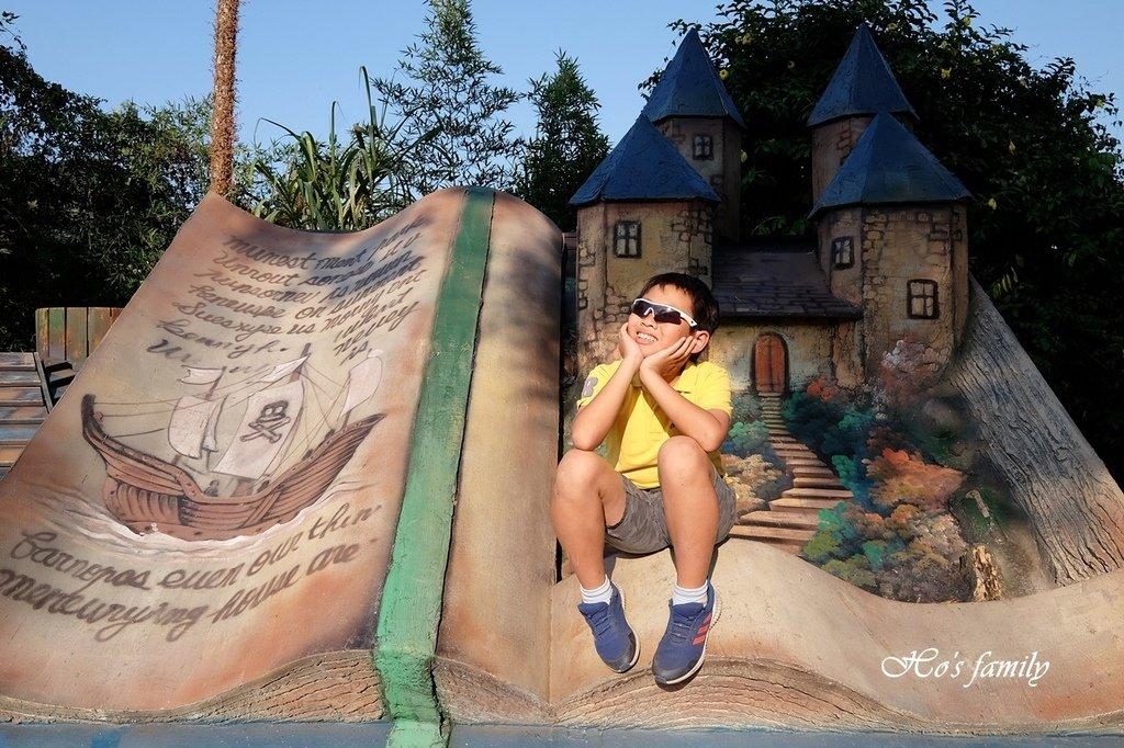 【南投親子新景點】竹山海盜村景觀彩繪園區~巨大海盜船開進山中!走進立體童話彩繪街、住海盜村吃喝玩樂