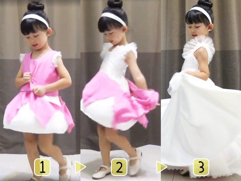 【DIY】給女兒的迷你仙度瑞拉變身裝