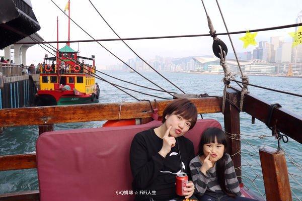 香港鴉靈號。尖沙嘴搭古船遊維多利亞港