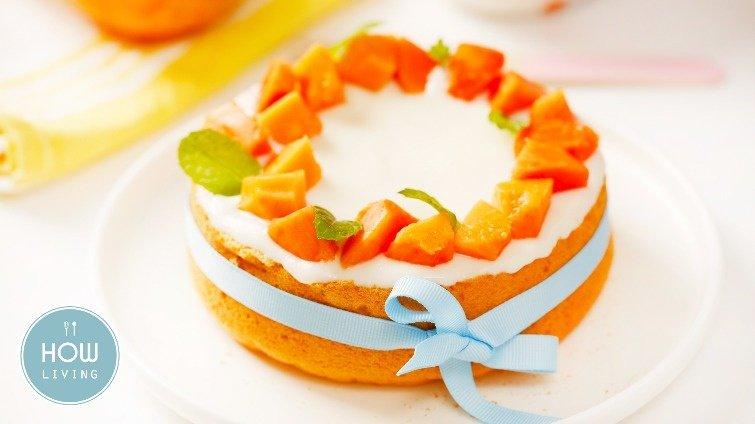 【副食品教學】粉嫩配色好開胃~1歲寶寶最愛的木瓜牛奶米蛋糕