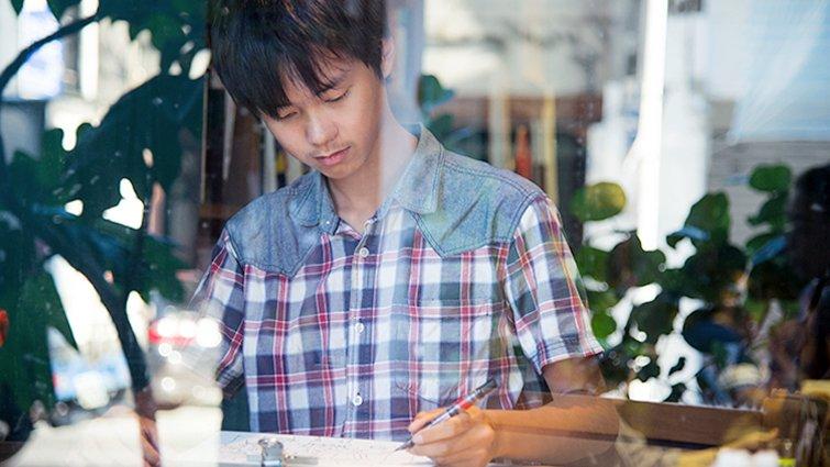 10張畫,換得半月離島住宿的青年速寫畫家