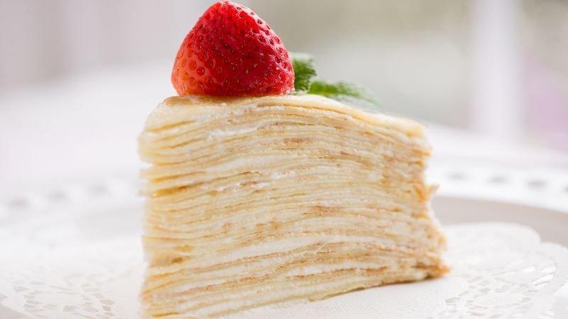 紐約名牌蛋糕Lady M自己做【草莓優格千層蛋糕】