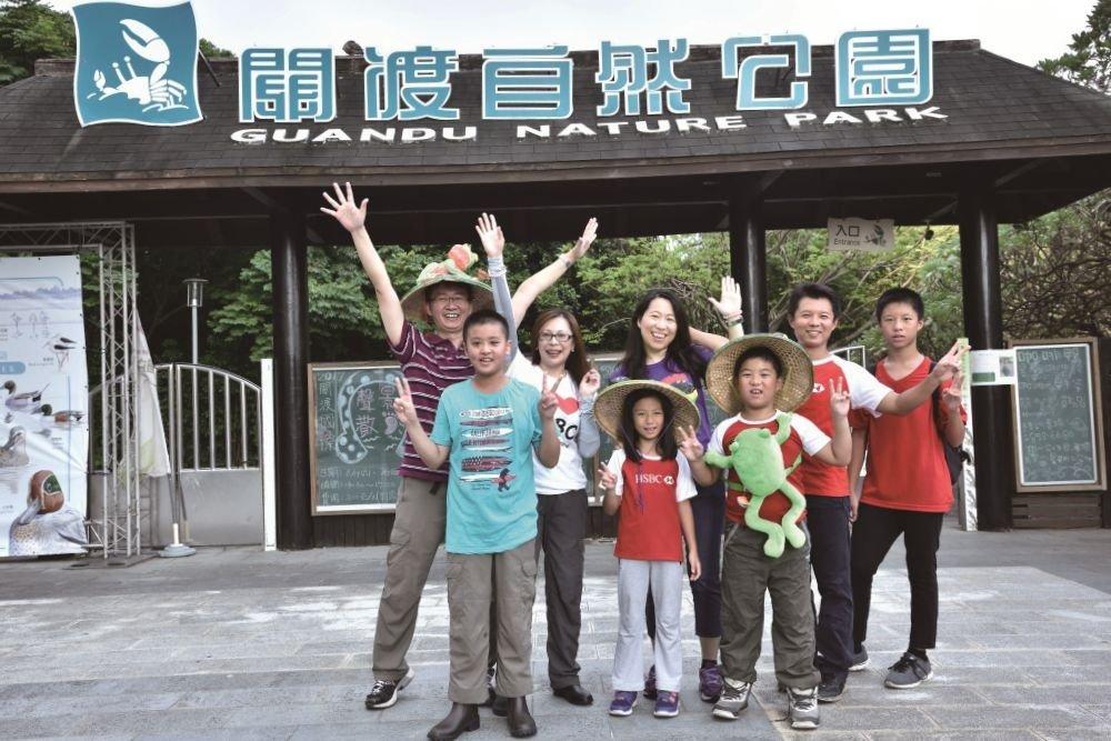 親子攜手夜訪,調查蛙類生態  關渡自然公園,HSBC做志工