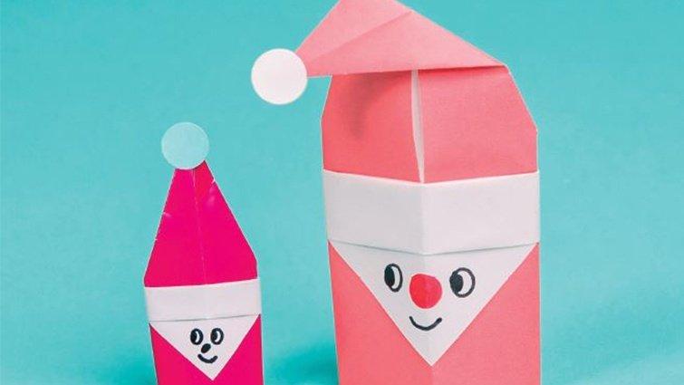 王淑芬:聖誕節摺紙指偶──聖誕老公公篇