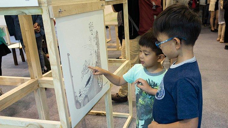法國國寶級畫家桑貝互動藝術展 立體呈現大師童年