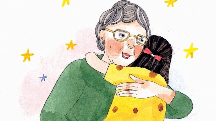 親愛的奶奶,我會想念在天上的妳