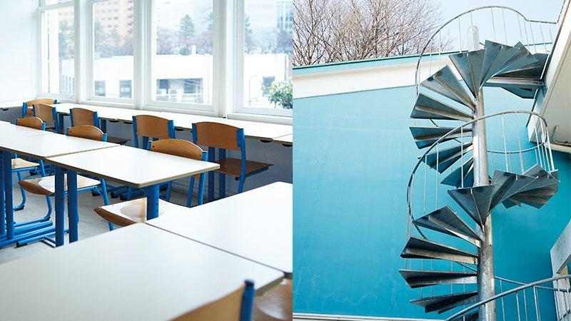 法式浪漫螺旋梯、繽紛教室 「好想天天來上學!」超美學院在這裡
