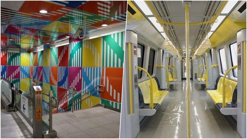 新店到新莊搭車省20分鐘,新北環狀線亮黃色車廂、彩色公共藝術5大亮點